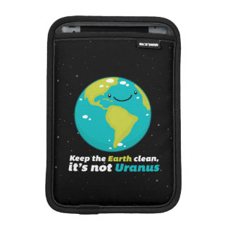 Keep The Earth Clean iPad Mini Sleeve