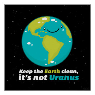 Keep The Earth Clean Poster