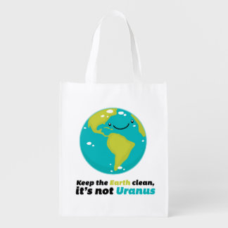 Keep The Earth Clean Reusable Grocery Bag