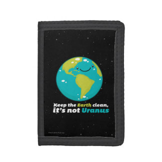 Keep The Earth Clean Trifold Wallet
