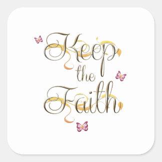 Keep the Faith 1 Square Sticker