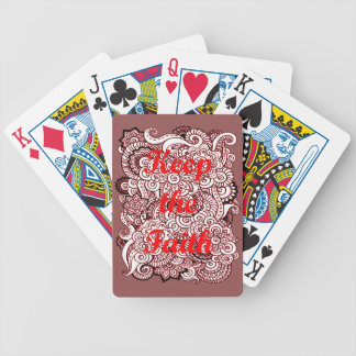 Keep the Faith Bicycle Playing Cards