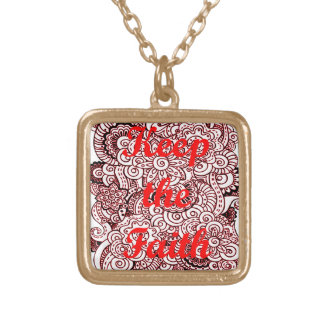 Keep the Faith Gold Plated Necklace