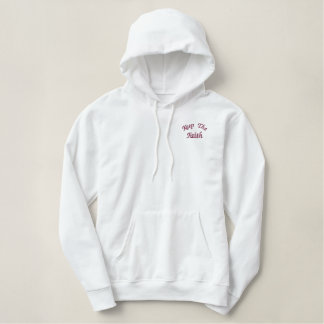 Keep The Faith Inspirational Embroidered Hoodie