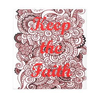 Keep the Faith Notepad
