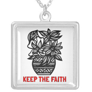 """Keep the Faith"" Sterling Silver Necklace"