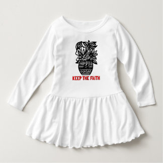 """Keep the Faith"" Toddler Ruffle Dress"