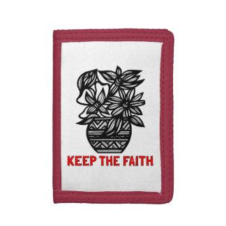 """""""Keep the Faith"""" TriFold Nylon Wallet"""
