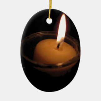 Keep the Flame Burning Candle Ceramic Oval Ornament