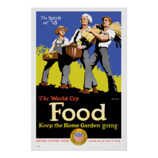 Keep the Home Garden Going Vintage War Poster