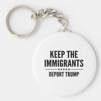 Keep The Immigrants Keychain