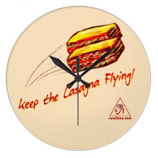 keep the Lasagna Flying clock