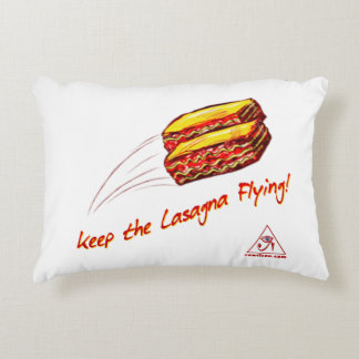 Keep the Lasagna Flying Objects! Decorative Pillow