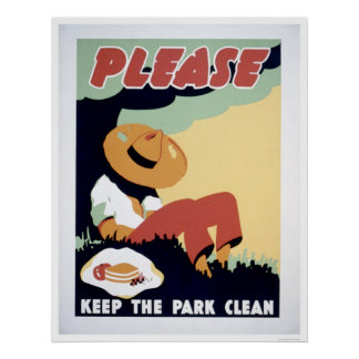 Keep The Park Clean 1937 WPA Poster