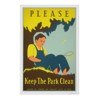 Keep The Park Clean 1938 WPA Poster