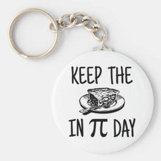 Keep The Pie in Pi Day Basic Round Button Keychain