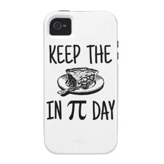 Keep The Pie in Pi Day iPhone 4 Case