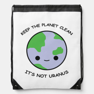 Keep the planet safe drawstring bag