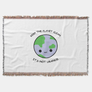 Keep the planet safe throw blanket