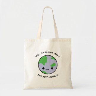 Keep the planet safe tote bag