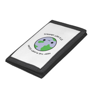 Keep the planet safe trifold wallet