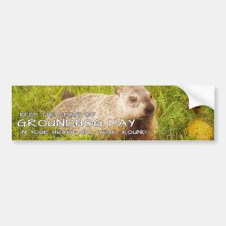 Keep the Spirit of Groundhog Day bumper sticker