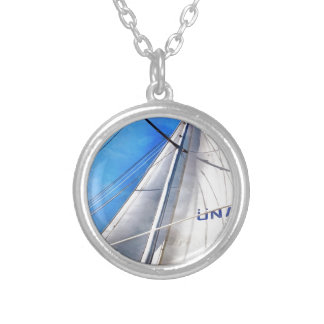 Keep The Wind In Your Sails Silver Plated Necklace