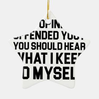Keep to Myself Ceramic Ornament