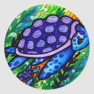 """""""Keep Up!"""" Sea Turtle and Baby Stickers"""
