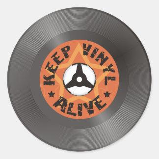 Keep Vinyl Alive Round Sticker