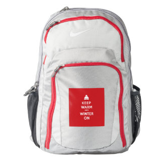 KEEP WARM AND WINTER ON BACKPACK