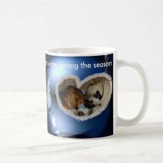Keep warm during the season mug