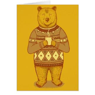 Keep warm greeting card