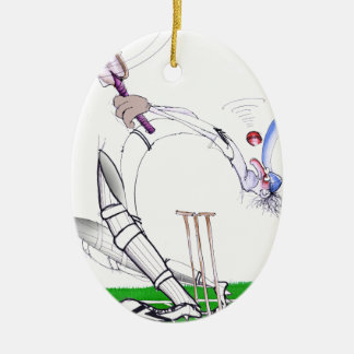 keep your eye on the ball, tony fernandes ceramic oval ornament