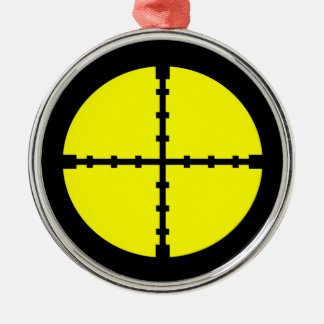 Keep Your Eye on The Target - Scope Print Silver-Colored Round Ornament