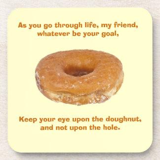 Keep your eye upon the doughnut coaster