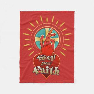 Keep your faith fleece blanket