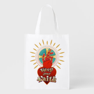 Keep your faith reusable grocery bag