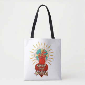 Keep your faith tote bag