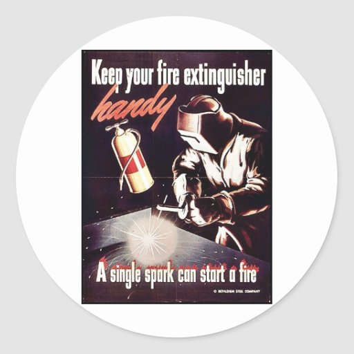 Keep Your Fire Extinguisher Handy Stickers