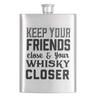 Keep Your Friends Close Hip Flask