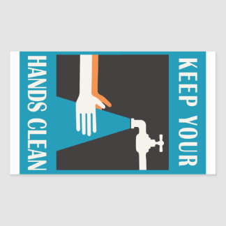 keep your hands clean sticker