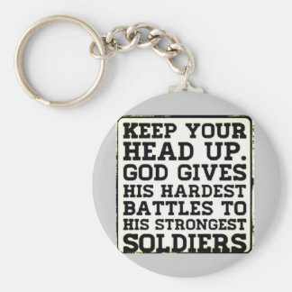 Keep your Head up Basic Round Button Keychain
