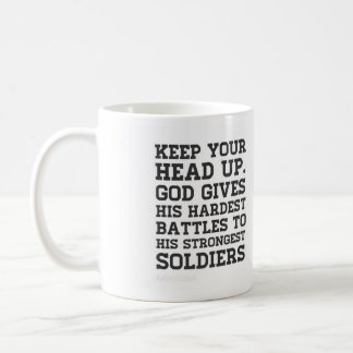 Keep your head up mug! coffee mug