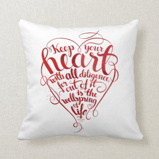Keep your heart throw pillow