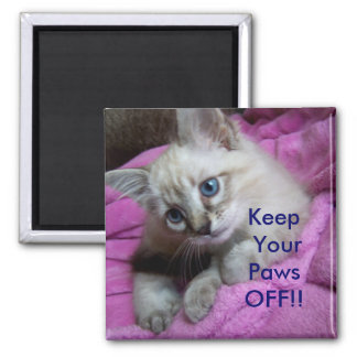 Keep Your Paws OFF!! LOCKER MAGNET