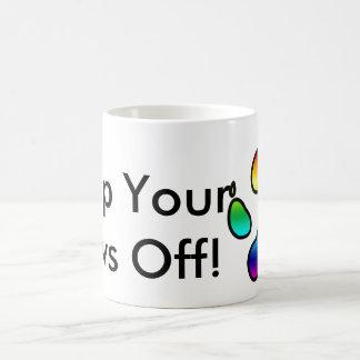Keep Your Paws Off! -Rainbow Coffee Mug