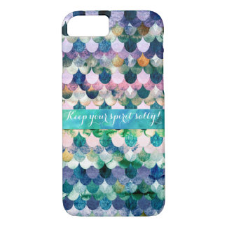 Keep your spirit salty- Mermaidscale Scale Pattern iPhone 8/7 Case