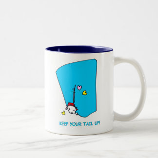Keep Your Tail Up-Mug Two-Tone Coffee Mug