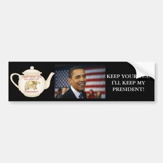 KEEP YOUR TEA! BUMPER STICKER